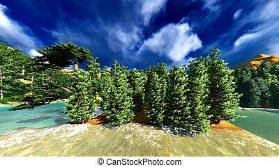 Madeira, área, -, taiga, maior, mundo. | CanStock