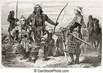 Taikuns - Japanese Taikuns general and officers old war...