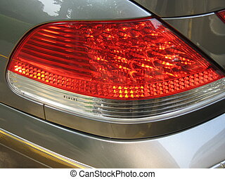 tail light of an expensive car