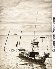 tailandés, barcos