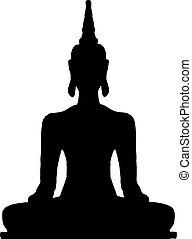 tailandés, buddha.