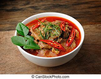tailandés, curry, panang, delicioso