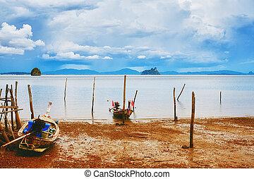 tailandés, orilla