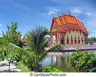 tailandés, templo, 2007