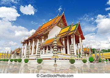 tailandés, templo, wat, suthat.