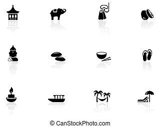 tailandês, ícones