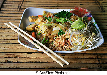 tailandês, almofada