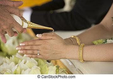 tailandês, estilo, casório