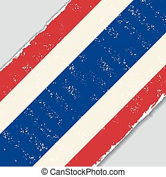 tailandês, grunge, flag., vetorial, illustration.