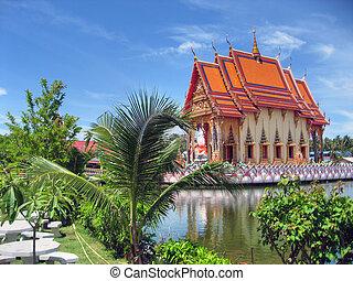 tailandês, templo, 2007