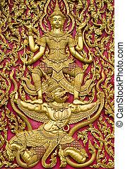 tailandese, porta, chiesa