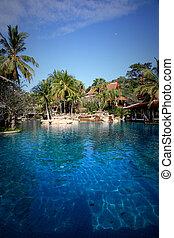 tailandese, resort.