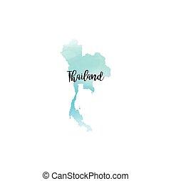 tailandia, astratto, mappa