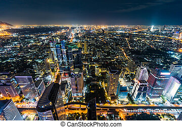 tailandia, bangkok, noturna, cidade