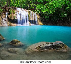 tailandia, erawan, cascata, asia