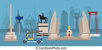 tailandia, estátua, monumentos