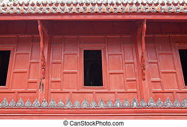 tailandia, finestra, tempio