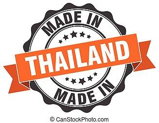 tailandia, hecho, redondo, sello