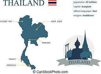 tailandia, mappa