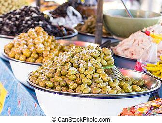 tailandia, mercado,  Pickled, frutas