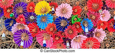 tailandia, ombrelli, fondo