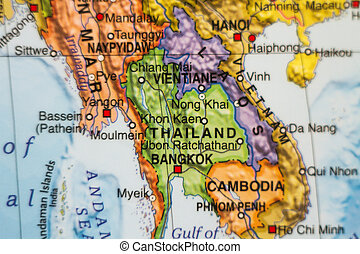 tailandia, paese, mappa, .