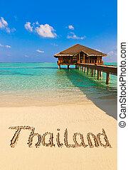 tailandia, praia, palavra