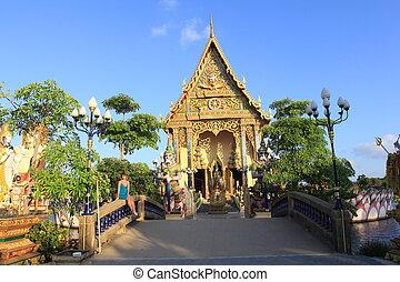 tailandia, samui, templo budista, isla