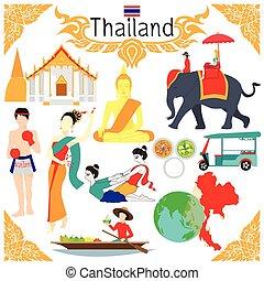 tailandia, sobre, elementos