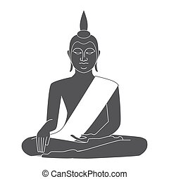 tailandia, vettore, tempio