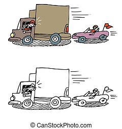 Tailgating Car