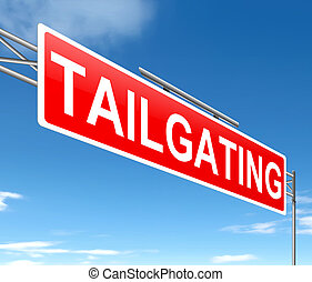 tailgating, concept.