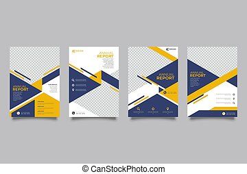 taille, annuel, présentation, vecteur, aviateur, a4, gabarits, brochure, prospectus, disposition, couverture, gabarit, rapport, livre, conception