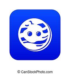 Tailor button icon blue