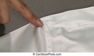 Tailor Measuring Man Shirt Shoulders Width