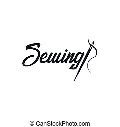 Tailor, sewing, handmade logo or emblem. Vector...