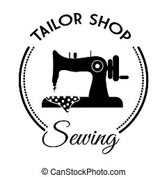 Tailor shop design - tailor shop concept with icon design,...