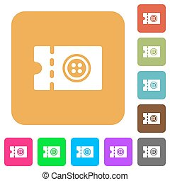 Tailor shop discount coupon rounded square flat icons -...