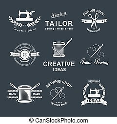 Tailor shop - Set of tailor Logo, emblems and design...