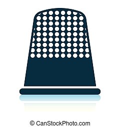 Tailor thimble icon