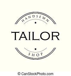 Tailor vintage sign logo