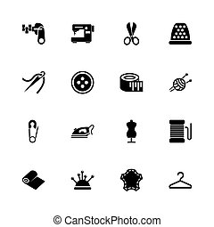 Tailoring - Flat Vector Icons