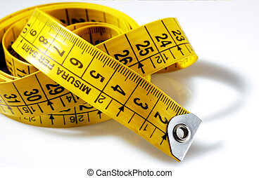 tailoring meters yellow on a white background