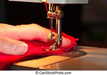 Tailoring process - closeup.