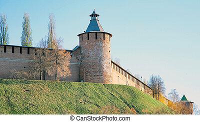 Tainitzkaya tower of Nizhny Novgorod Kremlin in Russia