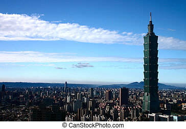 Tallest Building in the World During the Day with Blue Skies and Clouds