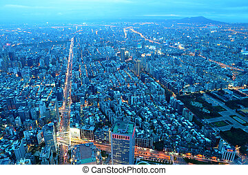 taipei city at night