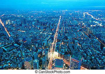 taipei city night scene