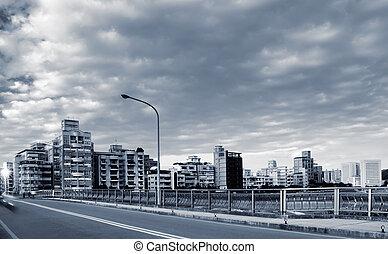 Taipei city street scenery