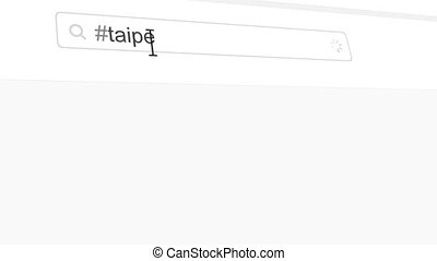 Taipei hashtag search through social media posts